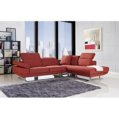 Layla Right Facing Chaise Sectional Sofa