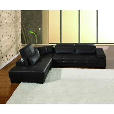 Bella Left Facing Chaise Sectional Sofa