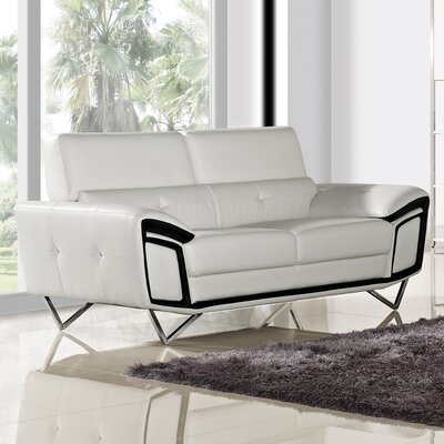 Kaya Leather Loveseat