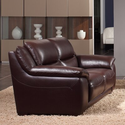 Leroy Leather Loveseat