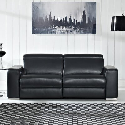 Delux Leather Reclining Sofa