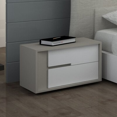 CREATIVE FURNITURE Solo 2 Drawer Nightstand
