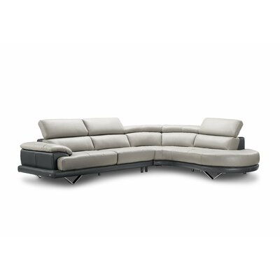 Cecile Leather Sectional