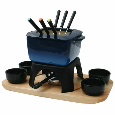 Swissmar Mont Blanc 15 Piece Meat Fondue Set in Blue