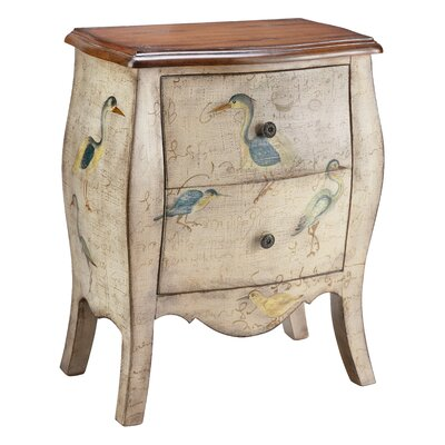 Stein World Painted Treasures 2 Drawer Accent Chest | Wayfair