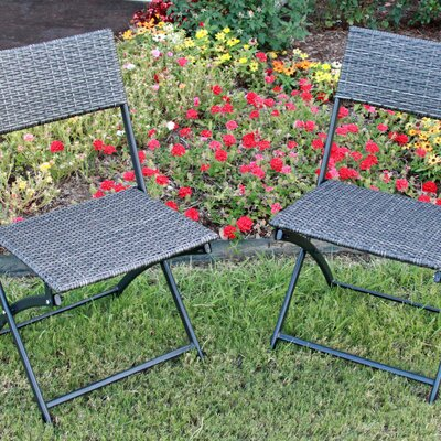 International Caravan Catalina Folding Dining Side Chairs (Set of 2)