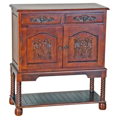 International Caravan International Caravan Windsor Hand Carved Wood Hall Console Table