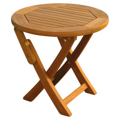 "<strong>International Caravan</strong> Balau 19"" Folding Patio Bistro Table"