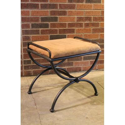 International Caravan Cambridge Contemporary Iron Vanity Stool