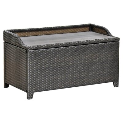 International Caravan Barcelona Wicker Resin Aluminum Outdoor Storage Trunk Bench Reviews