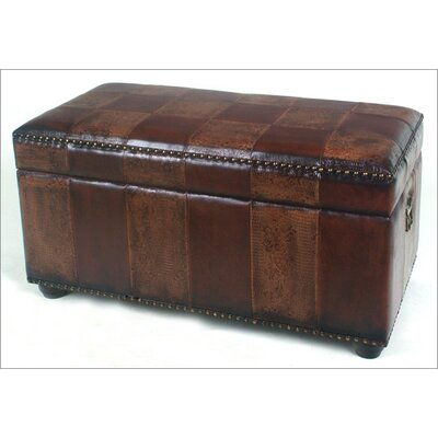 International Caravan Faux Leather Bedroom Storage Trunk