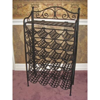 International Caravan International Caravan Wrought Iron 24-Bottle Indoor/Outdoor Wine Rack