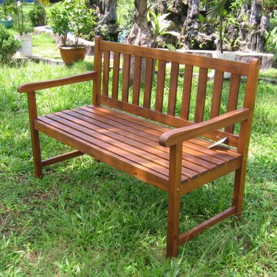 International Caravan Acacia Patio Wood Garden Bench