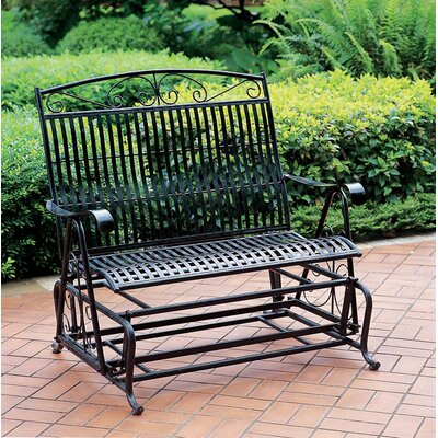 International Caravan International Caravan Wrought Iron Tropico Double Patio Glider