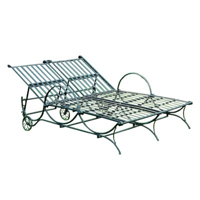 International Caravan Iron Patio Double Chaise Lounge