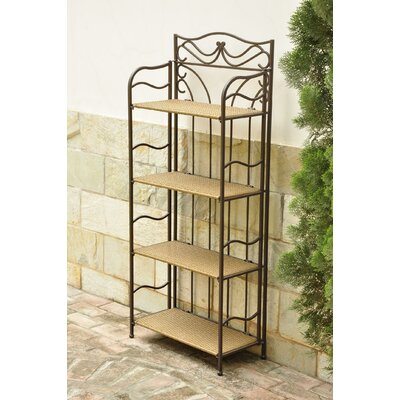 Valencia 4-Tier Wicker Resin Outdoor Bakers Rack