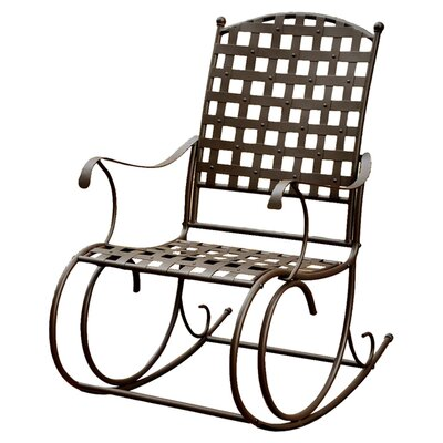 International Caravan Santa Fe Nailhead Iron Patio Rocker