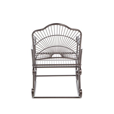 International Caravan Iron Patio Sun Ray Bronze Rocking Chair