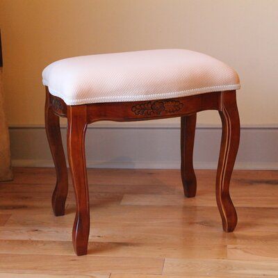 Windsor Hand Carved Cushioned Top Vanity Stool