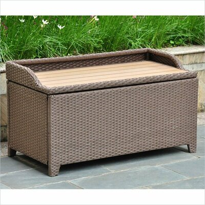 Wicker Lane Outdoor Wicker Patio Furniture Storage Deck Box