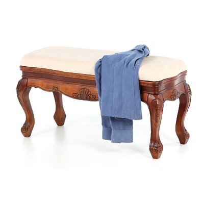 International Caravan International Caravan Windsor Hand Carved Vanity Bench