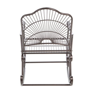 International Caravan International Caravan Sun Ray Wrought Iron Rocking Chair
