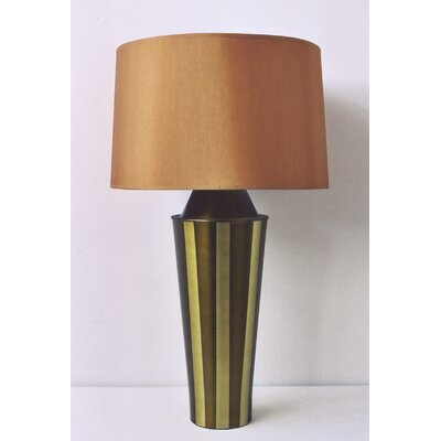 Babette Holland Striped Gemini Table Lamp with Shade