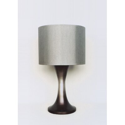 Babette Holland Twister Table Lamp in Smoke with Platinum Shade
