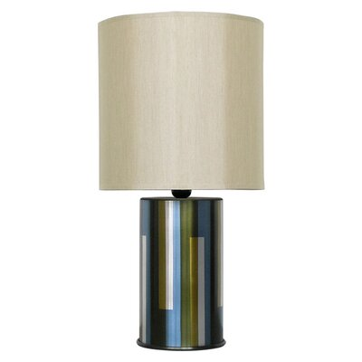 Babette Holland Pillar Table Lamp with Shade