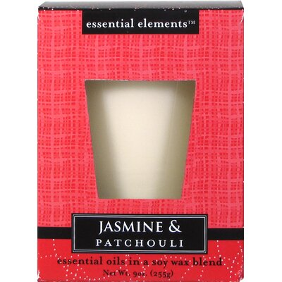 Essential Elements™ Jasmine and Patchouli Pillar Candle