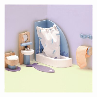 Le Toy Van Peppermint Powder Doll House Bathroom Set