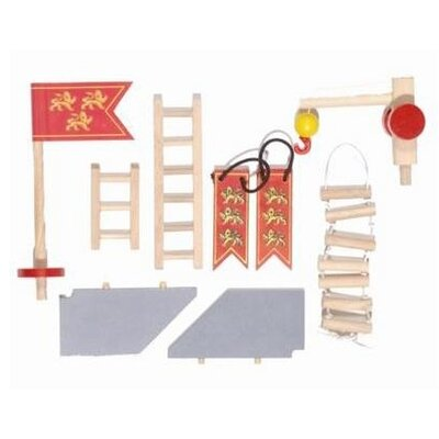 Le Toy Van Edix the Medieval Village Castle Accessories Set
