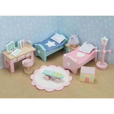 Daisylane Dollhouse Children's Bedroom Set
