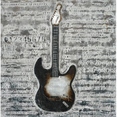 Electric Guitar Original Painting on Canvas