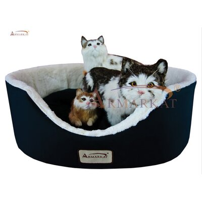 Armarkat Cat Bed in Laurel Green and Ivory