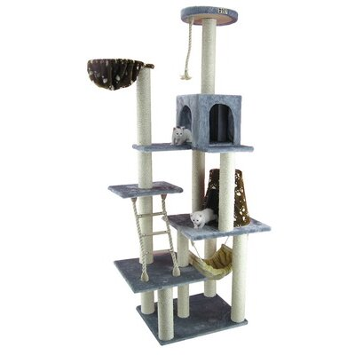 "Armarkat 78"" Classic Cat Tree in Silver Gray"