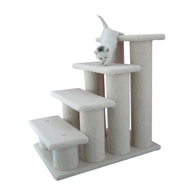 "Armarkat 25"" Classic Four-Step Cat Tree in Ivory"