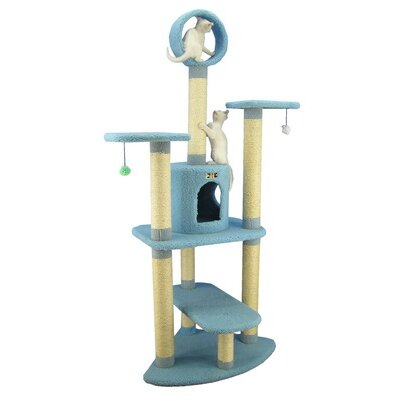 "Armarkat 66"" Classic Cat Tree in Sky Blue"