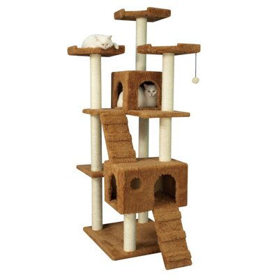 "Armarkat 74"" Cat Tree in Brown"