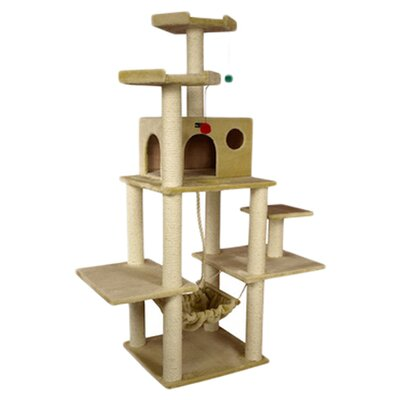 "<strong>Armarkat</strong> 72"" Classic Cat Tree in Beige"