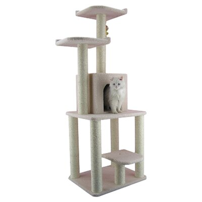 "62"" Classic Cat Tree in Ivory"