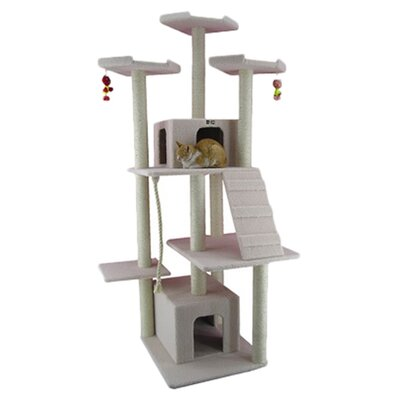 "Armarkat 82"" Classic Cat Tree in Ivory"
