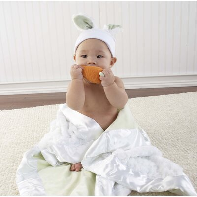 "Baby Aspen ""Bunnies in the Garden"" Luxurious 3 Piece Blanket Gift Set"