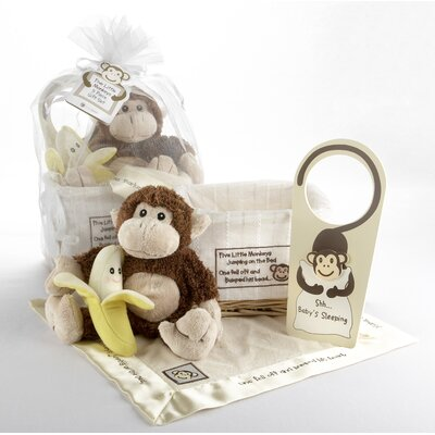 "Baby Aspen ""Five Little Monkeys"" 5 Piece Gift Set"