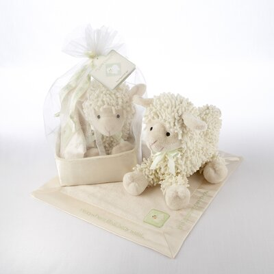 "Baby Aspen ""Love Ewe"" Plush Lamb and Lovie Gift Set"