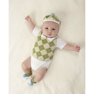 "Baby Aspen ""Sweet Tee"" 3 Piece Golf Layette Set"