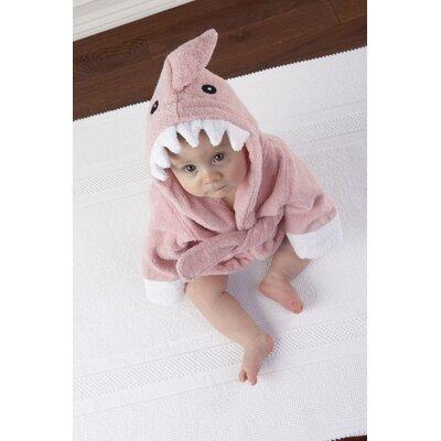 "Baby Aspen ""Let the Fin Begin"" Shark Robe in Pink"