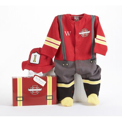 Baby Aspen ''Big Dreamzzz'' Baby Firefighter 2-Piece Layette Set in Firefighter themed Gift Box