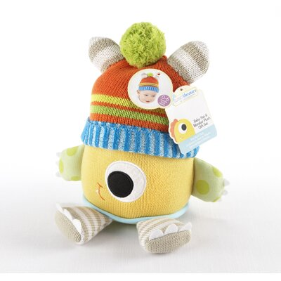 Baby Aspen Closet Monsters Knit Baby Hat and Plush Toy Gift Set