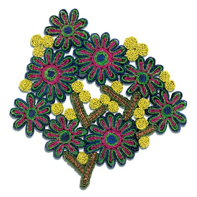 Seletti Florigraphie Passiflora Straw Pot Holder